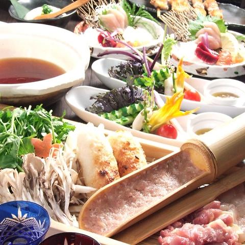 飲放付コースは5000円~、お料理もお酒もこだわる方にはプレミアム6000円コースが人気