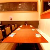 最大16名様までご利用頂けるテーブル席。女子会や、プチ宴会に。