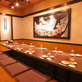 12名様用のお席です。中規模の飲み会などに◎是非、はなの舞 竹ノ塚東口店へお越し下さい★