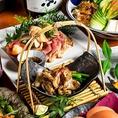 ◆日本酒・焼酎にぴったりの魚介。築地から新宿へ直送!みずみずしい逸品。料理長自らが食べ比べ、日本酒や、焼酎との相性をひとつひとつ厳選致しております。