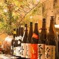 お料理にあう焼酎や日本酒を多数ご用意しております。他にも女性に人気の柚子酒やカクテルが豊富に勢ぞろい!
