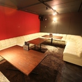 20名様まで対応の個室全席ソファー席のラグジュアリー空間