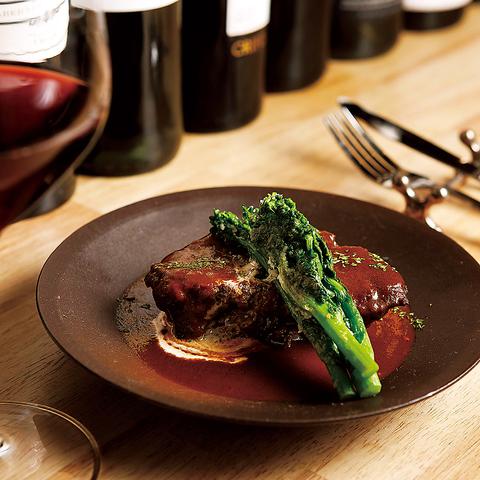 国産牛ほほ肉のワイン煮込み 等... シェフ自慢の料理が詰まった〈全10品〉3800円コース