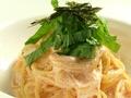 料理メニュー写真明太子のクリームスパゲティ