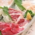 料理メニュー写真熊本県産馬肉 馬刺し盛合せ