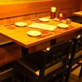 テーブルは可動式ですので何名様でも対応できます