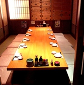 雰囲気のいい個室パーティ席。自分たちだけの空間を楽しめます。(※画像は系列店)