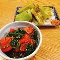 料理メニュー写真旬の野菜料理・たたききゅうり・枝豆・ポテトサラダ各種