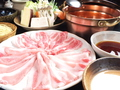 料理メニュー写真特選豚三種盛しゃぶしゃぶセット※お肉約130g(イベリコ豚か東京X/白金豚/南州豚の食べ比べ)