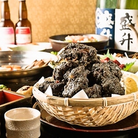 各種ご宴会に!熟成鶏の大麦黒唐揚げ食放付コース4500円