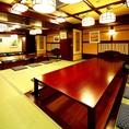 個室は最大60名様までご利用して頂けます。
