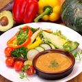 料理メニュー写真あつあつ彩り野菜のバーニャカウダ