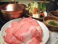 料理メニュー写真特撰牛しゃぶしゃぶセット※お肉約130g(黒毛和牛のカタロースA4ランク以上)