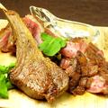 料理メニュー写真人気肉グリル3種類盛合せ(牛肩ロース、鴨胸肉、牛タン)