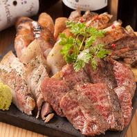 名物肉炉端盛り!山梨県産銘柄肉を存分にご堪能下さい!
