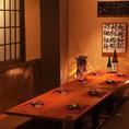 和モダンの個室空間は女性にも人気です♪女子会にも