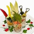 料理メニュー写真彩り3種の前菜盛り合わせ