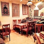 テーブル席の頭上にはトルコならではの伝統的ランプでお出迎え♪欲しい方は是非スタッフまでお問い合わせ下さい★