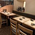 テーブル席は4名様掛け×2卓。