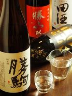 日本各地の地酒各種ご用意