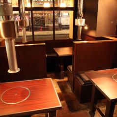 少人数の宴会や家族でのお食事に最適なボックスタイプのテーブル席。2名様~のご利用が可能です。