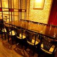 【2~10名様/テーブル個室】ガラスで仕切られたラグジュアリーな空間は、デート・少人数の女子会・誕生日会・会社宴会・ランチ宴会にどうぞ♪