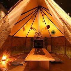 【テント席】非日常空間をお楽しみいただけます。