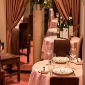 ピンクを基調とした店内で、時間を忘れてゆったりとお食事をお楽しみ頂けます。デートや誕生日のご利用におすすめです。