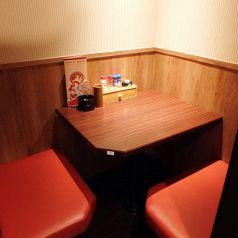 2名様用の半個室席もご用意しております♪