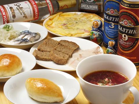 大井町で本格的なロシア料理をどうぞ!ウォッカの種類の豊富にご用意してます。