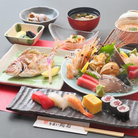 2名〜OK!! 8品 季節の鮨勘特別コース 120分飲み放題付き(税込5500円)