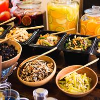 豊富なビュッフェは栄養バランスも◎有機野菜がおすすめ