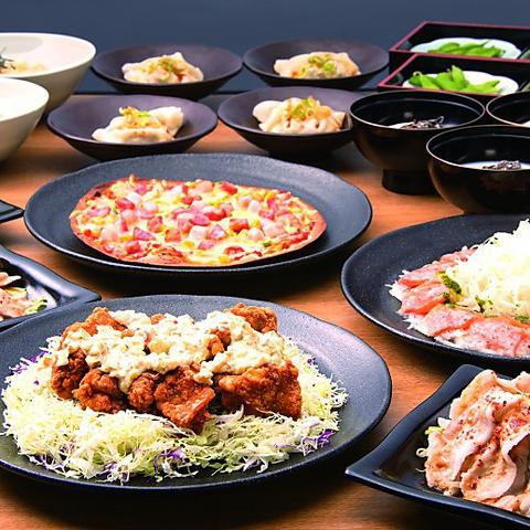 【燦々コース】2時間飲放+豚しゃぶサラダ+葱たっぷりピリ辛水餃子等10品⇒3000円(税抜)