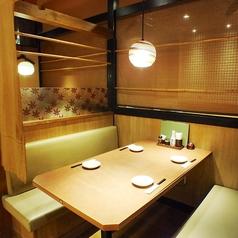 のれん付の半個室はカップルでもご家族でもゆっくりお食事をお楽しみ頂けます♪