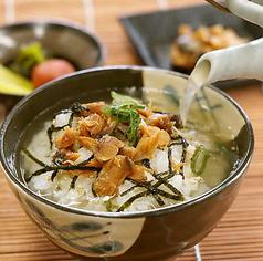 鶏だしスープのお茶漬け(鮭/昆布/梅/たこわさ)