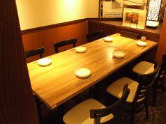 6名様までご利用可能な半個室風テーブル