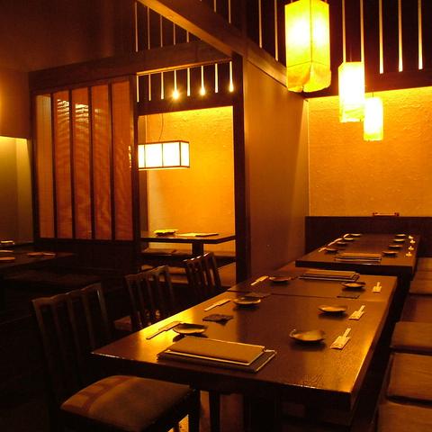 旬食材と手の込んだ創作料理・お洒落な京の和空間が自慢。茨木にある大人の隠れ家です