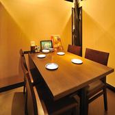 テーブル4名席 完全個室となっております♪
