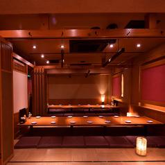 最大50名様程度まで収容可能な掘りごたつ個室空間も♪姫路駅での大型宴会に♪同窓会や歓送迎会などのご予約はお早目がオススメです♪8名様以上のご予約で1名様無料などオトクなクーポンも多数ご用意☆
