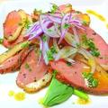 料理メニュー写真スモーク鴨肉のパストラミ