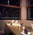 夜は夜景を見ながらディナーを…。