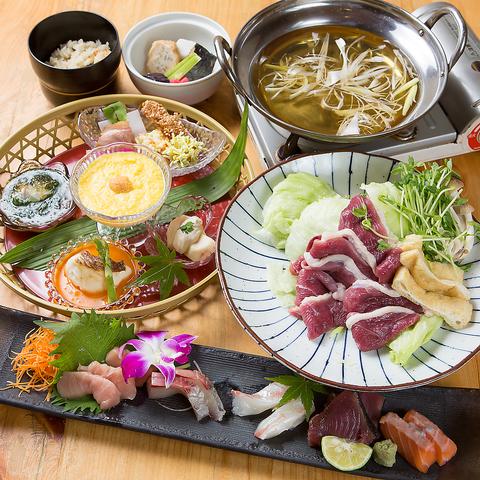 河内鴨料理のご宴会コース 5000円(税込)