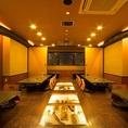 最大40名様まで使える宴会スペースです。(2階)2階には、6卓あります。