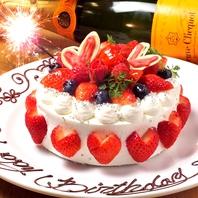ケーキで誕生日サプライズ