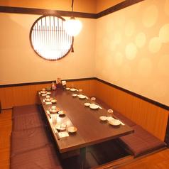 8名様用ゆったり席◎中規模宴会に◎足をゆっくりのばしながらお食事をお楽しみいただけます♪