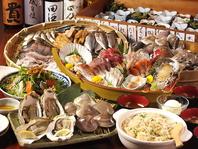 名前のまま…『大漁盛りコース』が一番人気!!