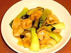海の幸と野菜の炒め