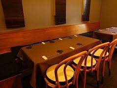 3~6名様用テーブル席