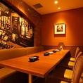 団体利用OK!店内テーブル席は解放感有。ゆったりできる大人のオシャレなイタリアン×ワインバーで今夜はパーティ