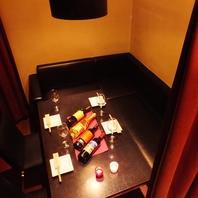 ゆったりソファー半個室が充実!飲み放題コース2980円~